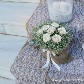 Στολισμός γάμου με χαμομήλι και λινάτσα δαντέλα, Δεξίωση γάμου ,Ιδέες για διακόσμηση γάμου,Αίθουσες δεξιώσεων,κτηματα γαμου