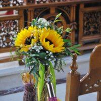 Στολισμός γάμου με ηλιοτρόπια,Στολισμός γάμου με ήλιους