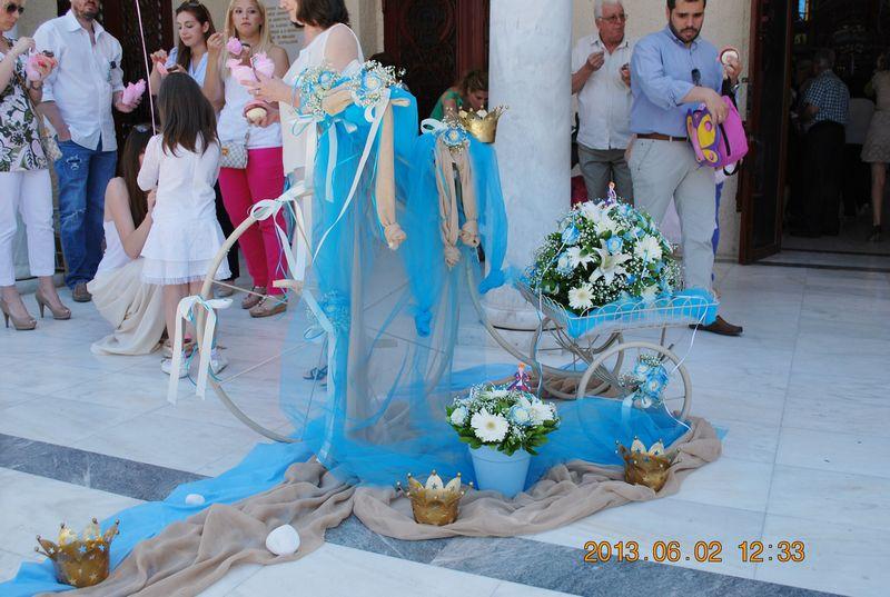 Στολισμός βάπτισης θέμα κορώνες – μικρός πρίγκιπας