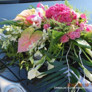 Στολισμός νυφικού αυτοκινήτου με ορτανσίες,Προτάσεις ιδέες ,πακέτα γάμου