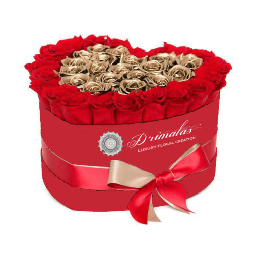 Τριαντάφυλλα σε κουτί - Αποστολή Λουλουδιών On Line